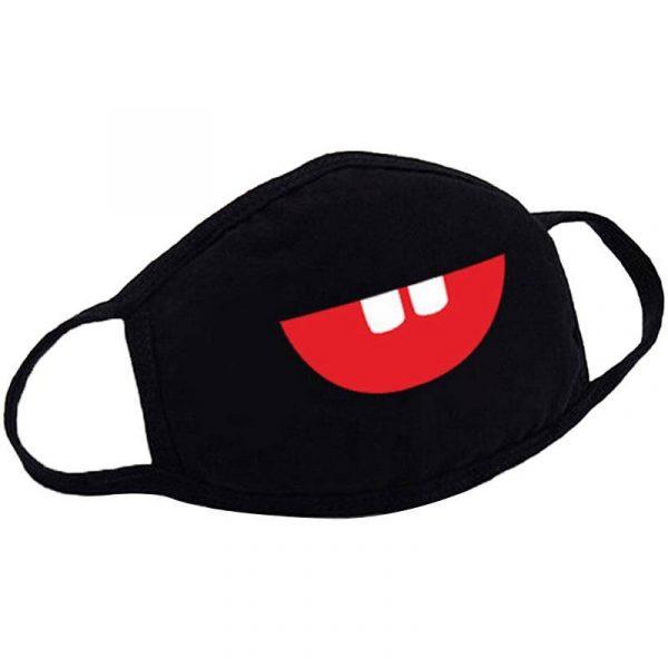 masque anti pollution masque anti bactéries motif fun masque Black W
