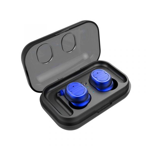 écouteurs bluetooth sport sans fil couleur bleu