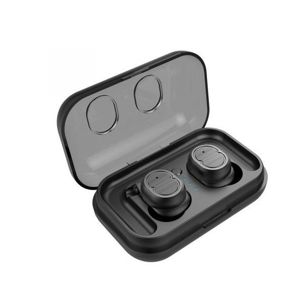 écouteurs bluetooth sport sans fil noir