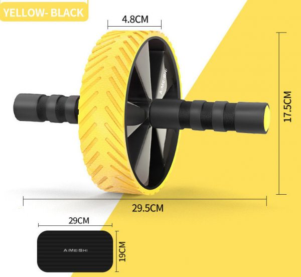 roue abdominale la roue abdos jaune