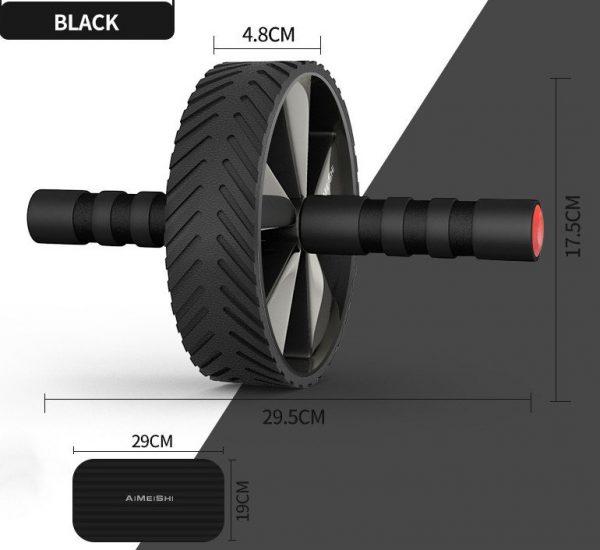 roue abdominale la roue abdos noire
