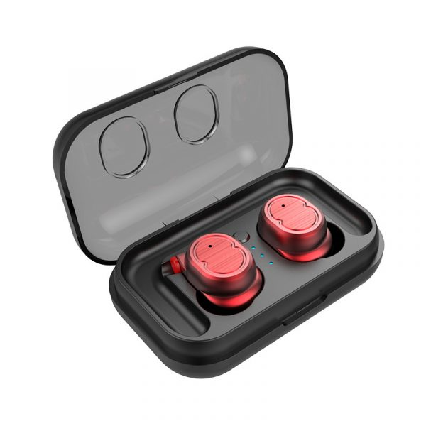écouteurs bluetooth sport sans fil couleur rouge